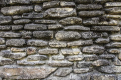 The texture of the old stones. Old wall stones masonry dirt Royalty Free Stock Photos