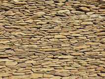 Texture of old stony wall from nature marlite material, broken marl stones , traditional materials. Stock Images