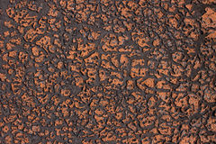 Texture with old surface covered orange spots Stock Photos