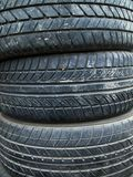 Texture of old three tire Royalty Free Stock Photo