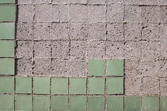 Texture of the old tile wall Stock Photography