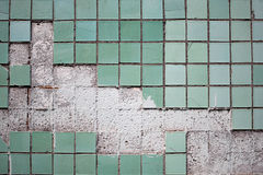 Texture of the old tile wall Royalty Free Stock Images