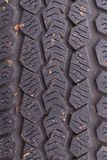 Texture of an old tire Stock Photos