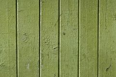 Texture of the old vintage wooden boards painted in green stock photo
