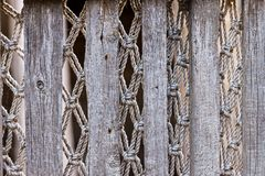 Texture of an old vintage fence with openwork weaving royalty free stock photos