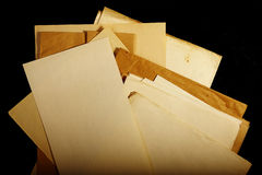 Texture old vintage yellowed paper,  papers Royalty Free Stock Images