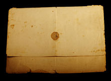 Texture old vintage yellowed paper Stock Photography