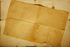 Texture old vintage yellowed paper. Writing papers Royalty Free Stock Image