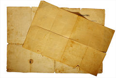 Texture old vintage yellowed paper, writing papers Stock Image