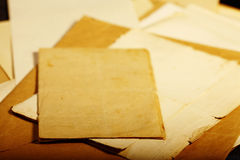Texture old vintage yellowed paper.  Royalty Free Stock Images