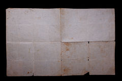 Texture old vintage yellowed paper Stock Images