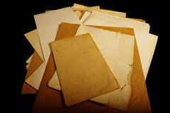 Texture old vintage yellowed paper, writing papers Stock Photo