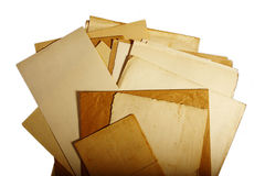 Texture old vintage yellowed paper, writing papers Royalty Free Stock Images