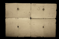 Texture old vintage yellowed paper, writing papers Royalty Free Stock Photos