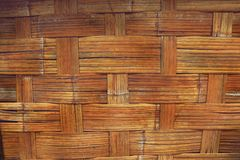 Old wall of bamboo house, resort in rural Thailand. Texture of old wall of bamboo house, resort in rural Thailand Royalty Free Stock Image