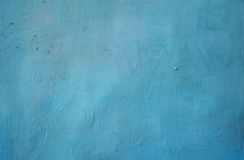 Texture of old wall covered with blue stucco Stock Photography