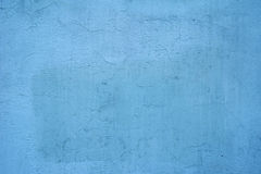 Texture of old wall covered with blue stucco Royalty Free Stock Image