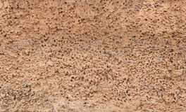 Texture of old wall covered with brown stucco Royalty Free Stock Images