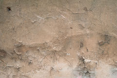 Texture of old wall covered with brown stucco Royalty Free Stock Photography