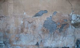 Texture of old wall covered with gray stucco Stock Photo