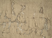Texture of old wall covered with gray stucco Royalty Free Stock Images