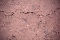 Texture of old wall covered with pink stucco Royalty Free Stock Image