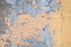 Texture of old wall covered yellow stucco Royalty Free Stock Images