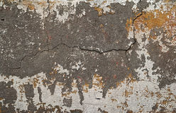 Texture of old wall covered with yellow stucco Royalty Free Stock Images
