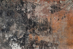 Texture of old wall covered with yellow stucco Royalty Free Stock Photography