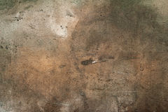 Texture of old wall covered with yellow stucco Stock Images