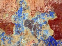 Texture of old wall with cracks and shabby paint. Royalty Free Stock Photo