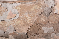Texture of old wall with crumbling plaster Royalty Free Stock Photos