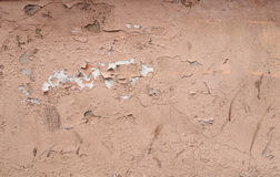 Texture of old wall with  plaster pink Royalty Free Stock Image