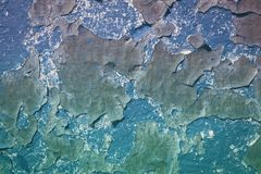 The texture of the old wall. Textured painted old wall. Cracked old wall royalty free stock image