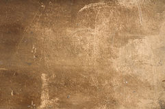 Texture of old wall with yellow stucco Royalty Free Stock Images