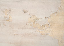 Texture of old wall with yellow stucco Royalty Free Stock Photo