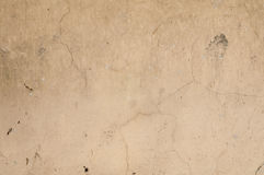Texture of old  wall with yellow stucco Stock Image