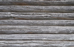 Texture of old weathered log walls Royalty Free Stock Photos