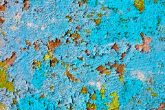 Texture - old weathered wall with grunge paint Stock Images