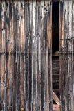 Texture of old weathered wood and rattan Royalty Free Stock Photo