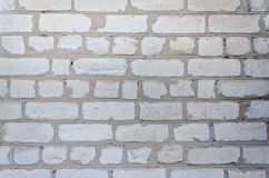 Texture of an old white brick wall Royalty Free Stock Photos