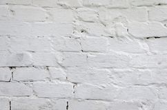 Texture of an old white brick wall Royalty Free Stock Photo