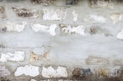 Texture of an old white brick wall. Horizontal frame Stock Photography