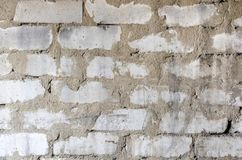 Texture of an old white brick wall. Horizontal frame Royalty Free Stock Image