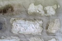 Texture of an old white brick wall Stock Photography