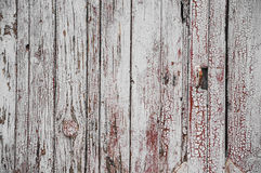 Texture of old white paint on black boards Stock Photography