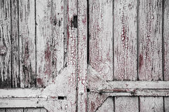 Texture of old white paint on black boards Stock Photos