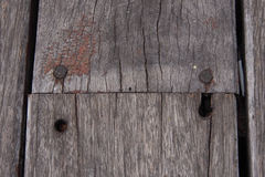 Texture of old wood board. Stock Photos