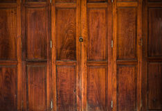 Texture of old wood door close Royalty Free Stock Images
