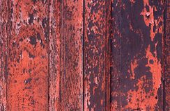 Texture of old wood window. Show the old wood window painted in red Royalty Free Stock Image